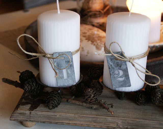 Christmas DIY inspiration: Advent candles