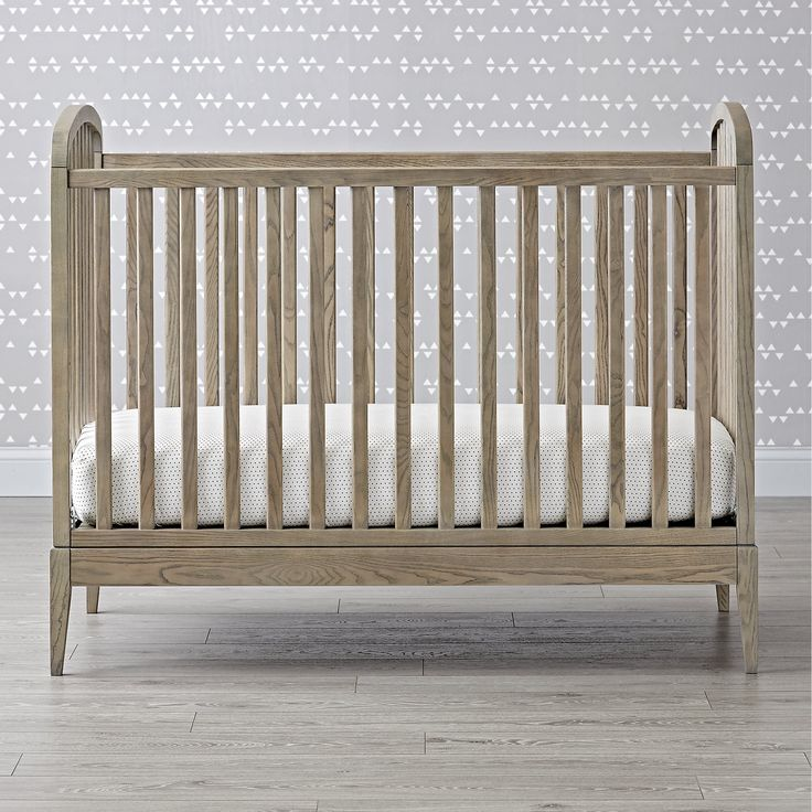 Archway Grey Stain Crib Baby furniture, Cribs, Wood crib