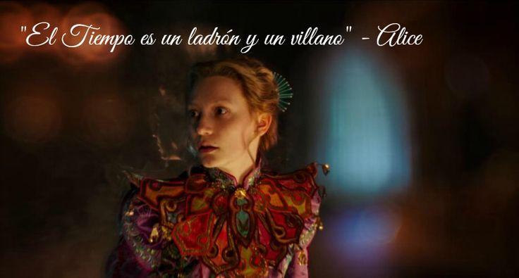 """""""El tiempo es un ladrón y un villano"""" Alicia a través del espejo - disneylandiaaldia.com"""