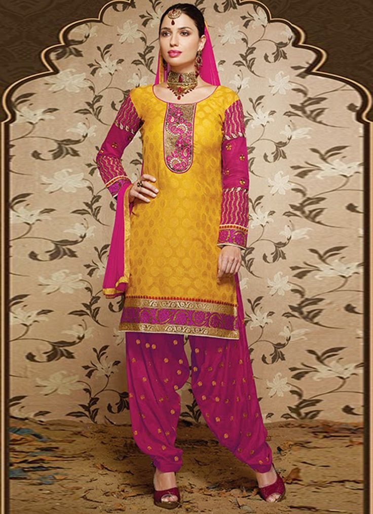 Lovely yellow #patiala #suit