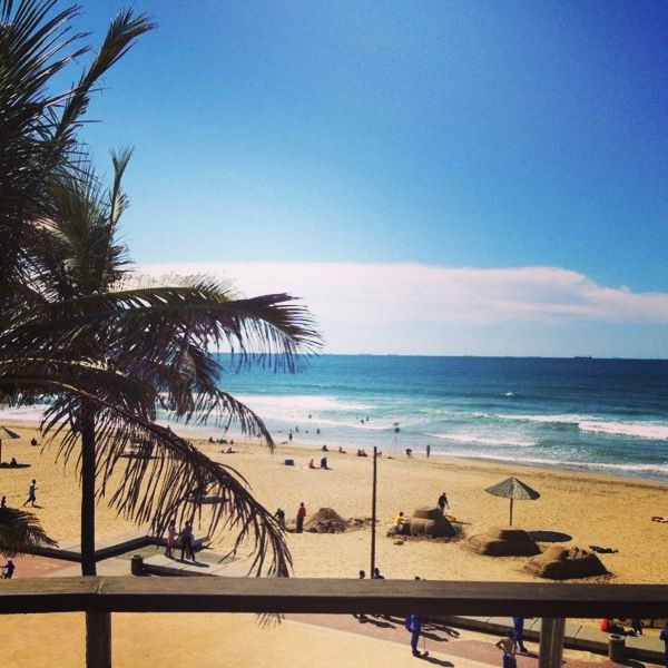 South Africa , Durban Beach- the only beach I've been to where the rip pushes you back to shore