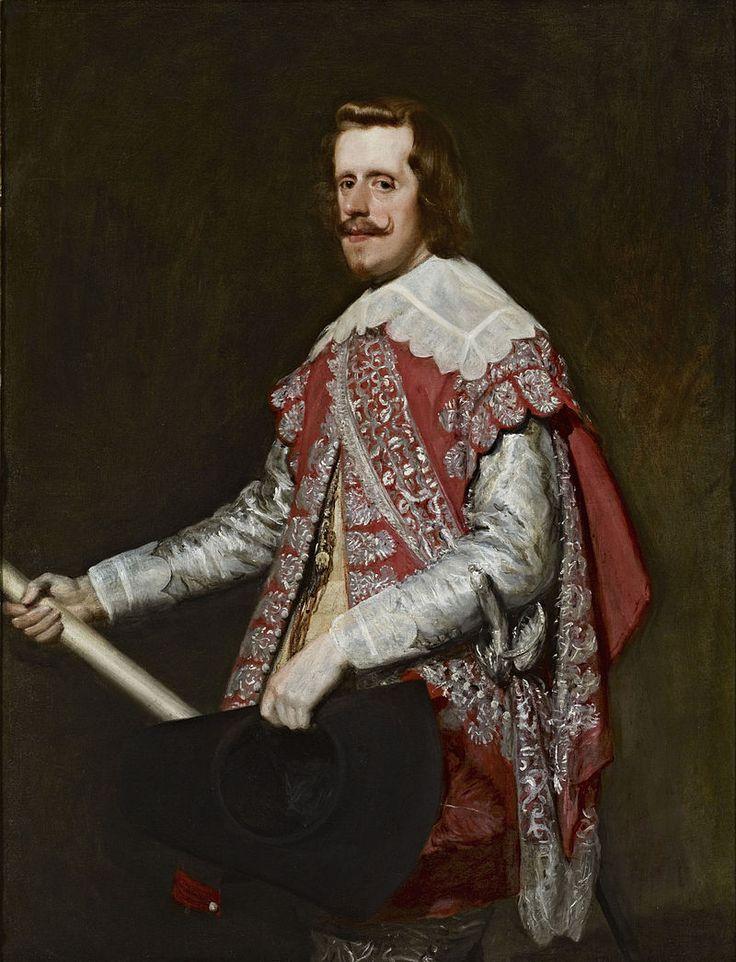 1644.Philip IV of Spain-Velázquez.Но отделилась от Испании только Португалия;каталонцы,возмущ. насильств.обр.действий французов, остались в исп.подданстве,после того как Филипп IV подтвердил их фуэросы.Попытки отделиться от Филиппа IV,кр.того,имели место и в Андалусии (заговор герц.Медина-Сидониа),в Сицилии (восст.в Палермо ,1647),в Неаполе (восст.Мазаниелло), в Сардинии,и в Милане. Историографом при Филиппе IV был изв.писатель и драм.Хуан де Сабалета.