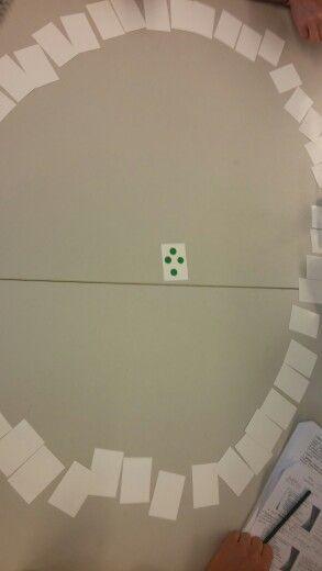 Tossupeli. Jos nostetussa kortissa on sama väri tai täpliä enemmän kuin alkuperäisessä se laitetaan keskelle. Muuten se nostetaan käteen. Hepotetaan rajaamalla korttien määrää helpoimpiin.