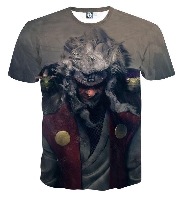 Naruto Shippuden Jiraiya Toads Sage Mode Dope Print T-Shirt  #Naruto #Shippuden #Jiraiya #Toads #Sage #Mode #Dope #Print #TShirt