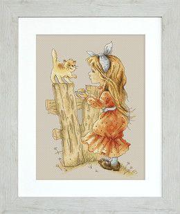 Luca-S, Bild Mädchen mit Kätzchen, 364001