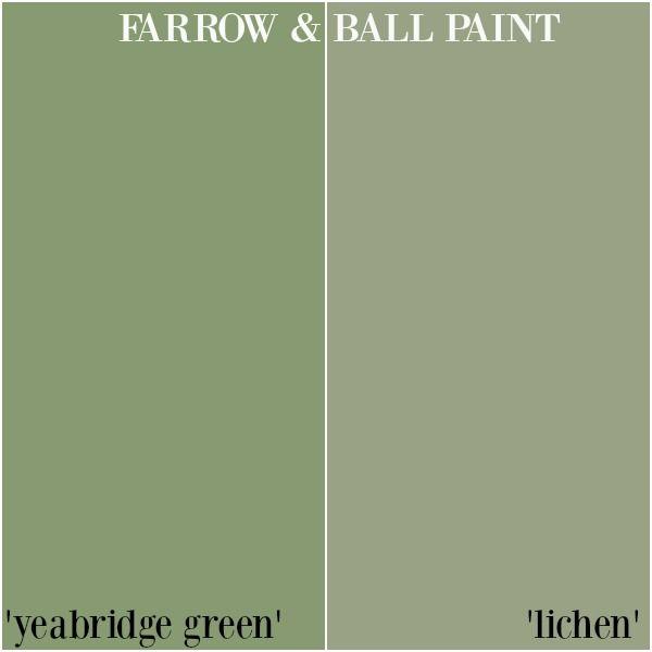 Farrow & Ball Paint - Yeabridge Green v. Lichen