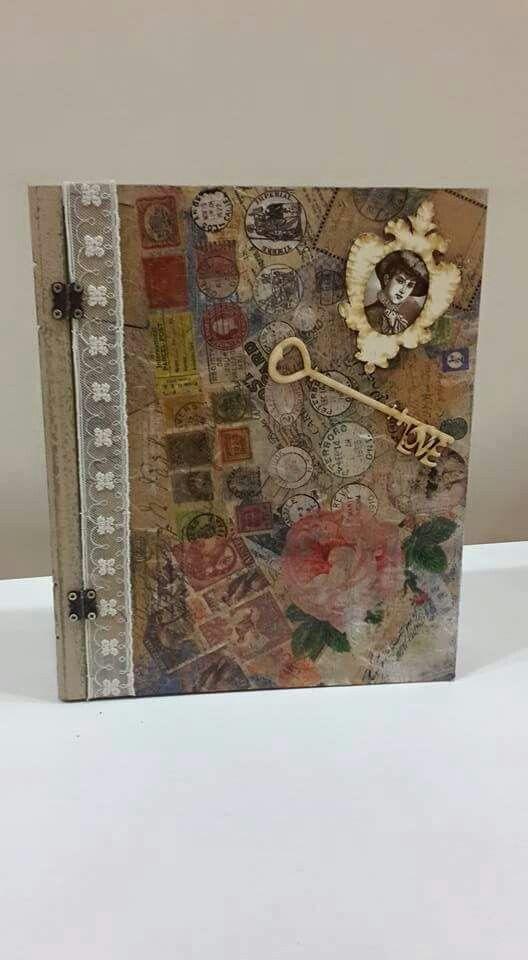 Ahşap boyama kitap kutu