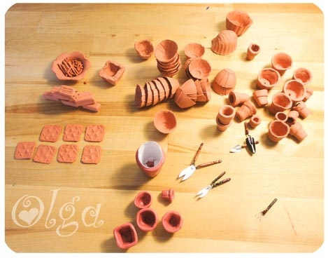 miniture garden pots
