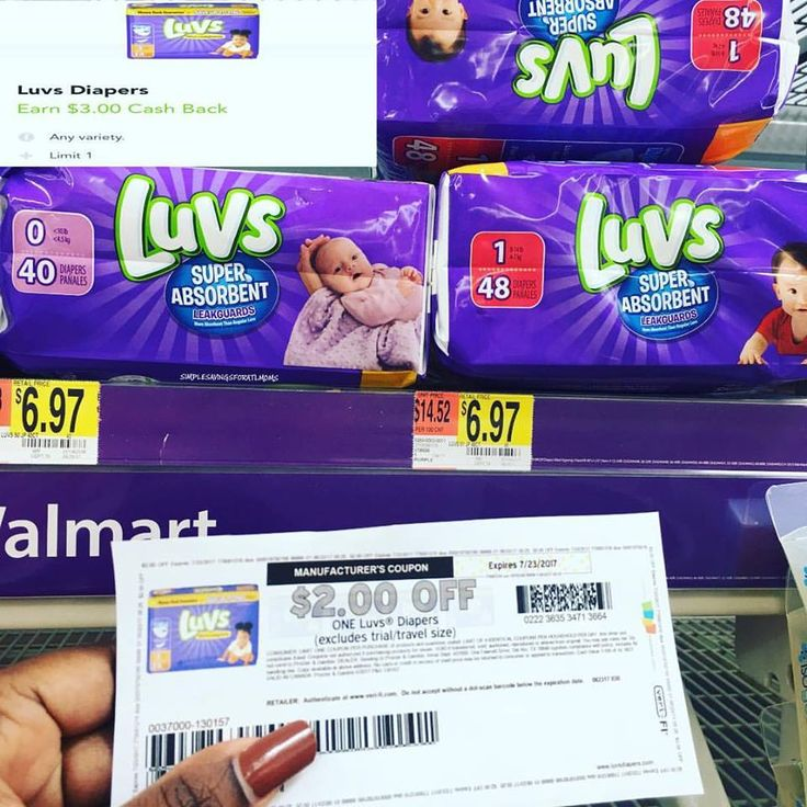 $1.97 for a pack of Luvs diapers at Walmart http://simplesavingsforatlmoms.net/2017/06/1-97-for-a-pack-of-luvs-diapers-at-walmart.html