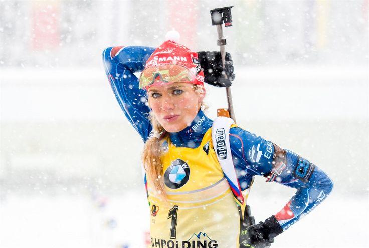 Gabriela Soukalová během vítězného závodu s hromadným startem na SP v... | na serveru Lidovky.cz | aktuální zprávy