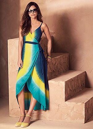Wrap Dip Dye Dress #kaleidoscope #hot #summer #heat