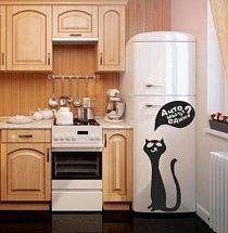 Оригинальная виниловая наклейка: Любопытный кот