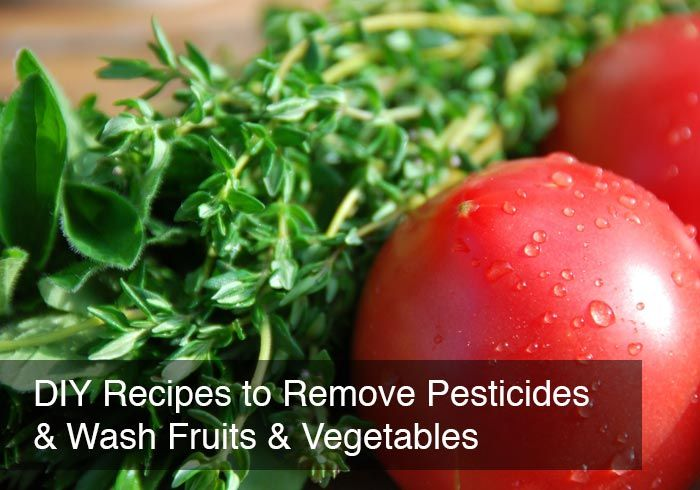 DIY Recipes to Remove Pesticides & Wash Fruits & Vegetables by @BlenderBabes