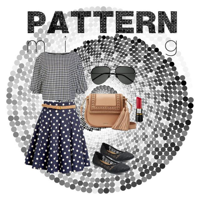 polka and checks by cloverleaf0720 on Polyvore featuring polyvore fashion style Sonia Rykiel Jellypop Kate Spade Yves Saint Laurent clothing