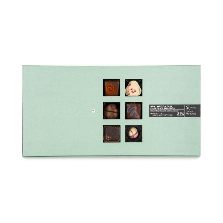 Milk, White & Dark Chocolate Selection 240g