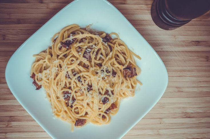 FOOD. Паста алла карбонара (Pasta alla carbonara)