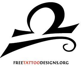 Libra symbol tattoo