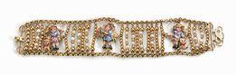 Bracciale, Gabriella Rivalta, in oro giallo, microperle e smalti  - Asta Argenti, Gioielli e Orologi da Polso  - Pandolfini Casa d'Aste