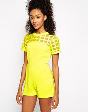 River Island Caged Playsuit