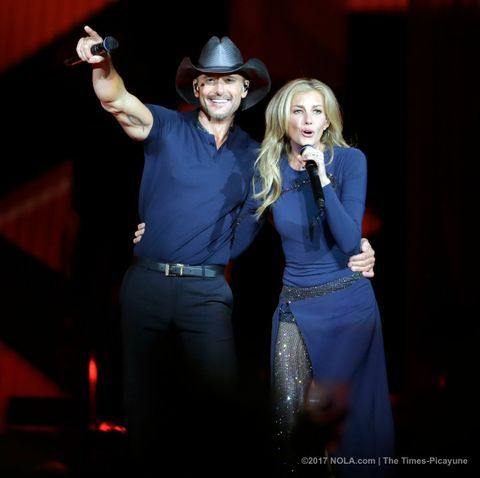 The husband and wife duo launched their new world tour Friday (April 7).