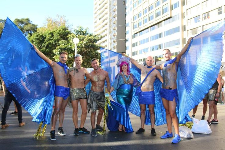 People celebrating Mardi Gras Sydney 2016