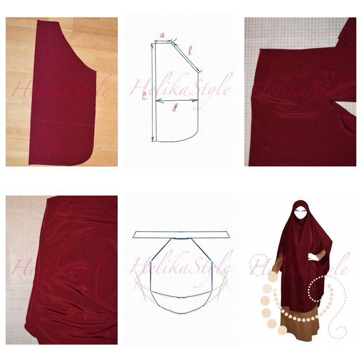 Шьем химар-кафтан. Базовая выкройка - самая важная. Освоив ее, можно пошить любой химар или французский джильбаб. Шей исламскую одежду с HelikaStyle!