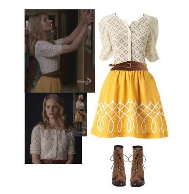 Dress and Boots -- Quinn Fabray