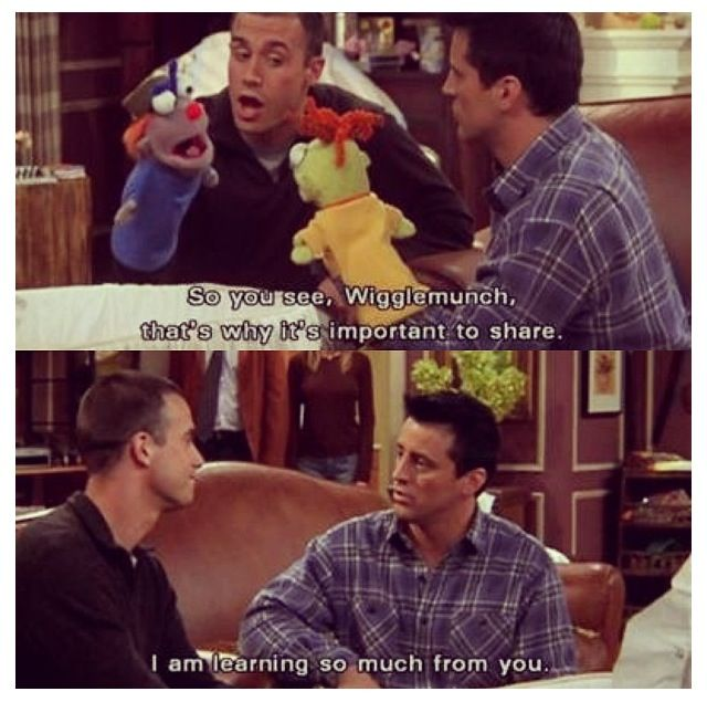 Joey and the manny | FRIENDS | Friends tv, Friends moments ...