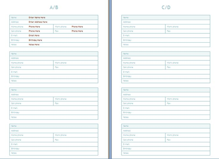 Phone and Address book template at wordtemplatesbundle - microsoft lined paper template