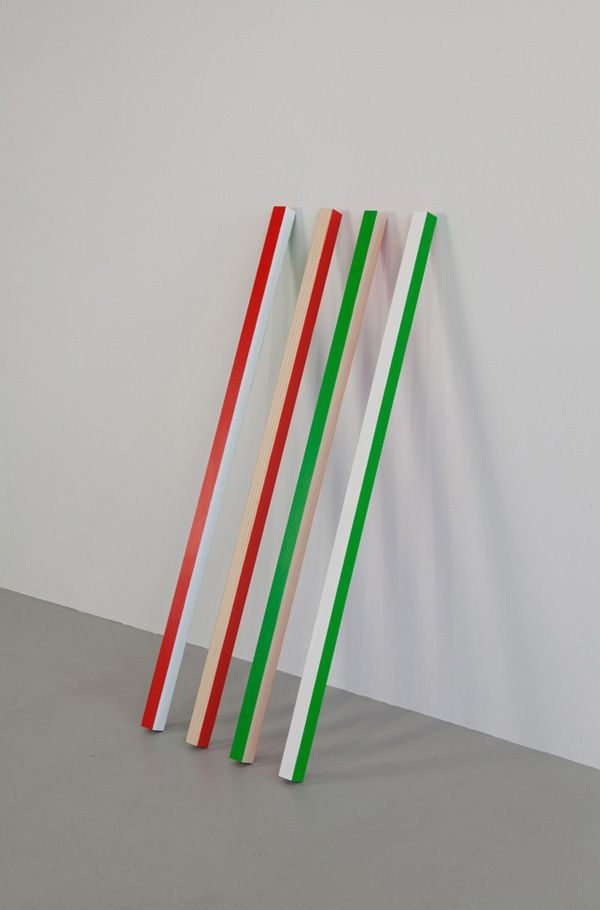 Julien Bismuth - A Train of Thought, 2011 wood 100 x 5 x 5 cm, each