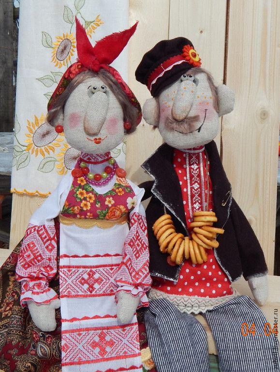 Купить семейка за чаем - разноцветный, текстильная кукла, интерьерная кукла, авторская ручная работа