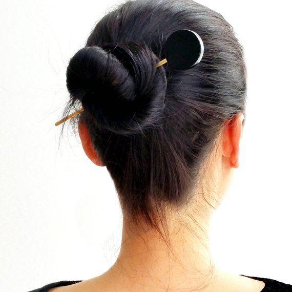 Circle Bun Pin Bk Circle Hair Pin Metal Hair Pin Gold Hair Etsy Metallic Hair Gold Hair Pin Hair Sticks