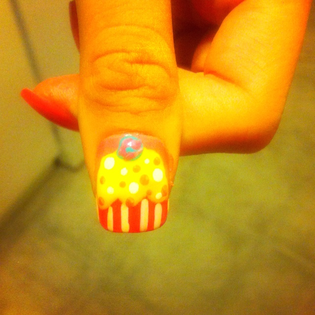 Cupcake nails :) my first try