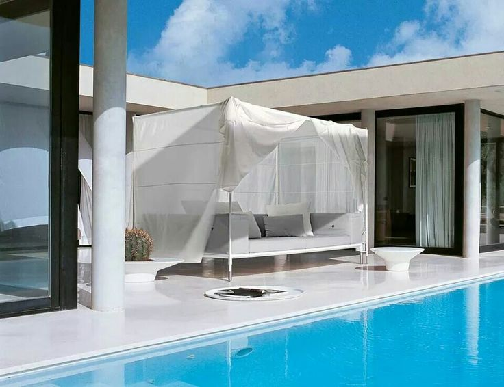 OPEN AIR LIVING: SURPRISING ALCOVE SOFAS, CHAISE LONGUES  FOR TWO AND  WHITE MULTIPURPOSE  ACCESSORIES.  IT'S TIME 4 OUTDOOR WITH…  SPRINGTIME BY JEAN-MARIE MASSAUD  > http://bit.ly/1ohdIgQ #BEBITALIA #OUTDOOR #DESIGN #FURNITURE