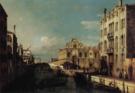 Canaletto, Vista al Río dei Medicanti, Venecia.