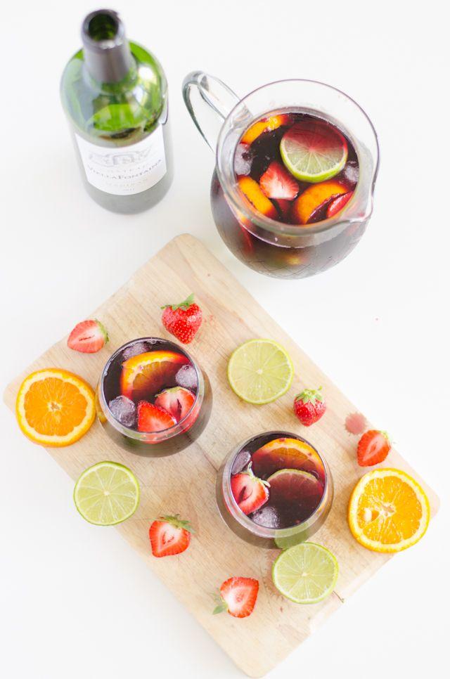 Je dis M. Food & Blog Lifestyle: Alerte canicule: Sangria toquée au Madiran et à la fraise