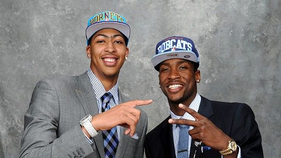 Anthony Davis and Michael Kidd-Gilchrist....1st time a school has ever dominated the first 2 slots in the draft!