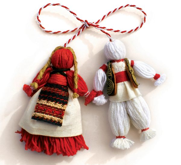 "The word Mărțișor literary means ""little March"" and it depicts a symbolic gift accompanied by a red and white string, which is offered to women and girls on the 1st day of March.  The small white-and-red talisman is a symbol of the Spring to come, a symbol of friendship or love, appreciation and respect."