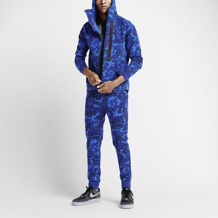 nike camouflage bleu