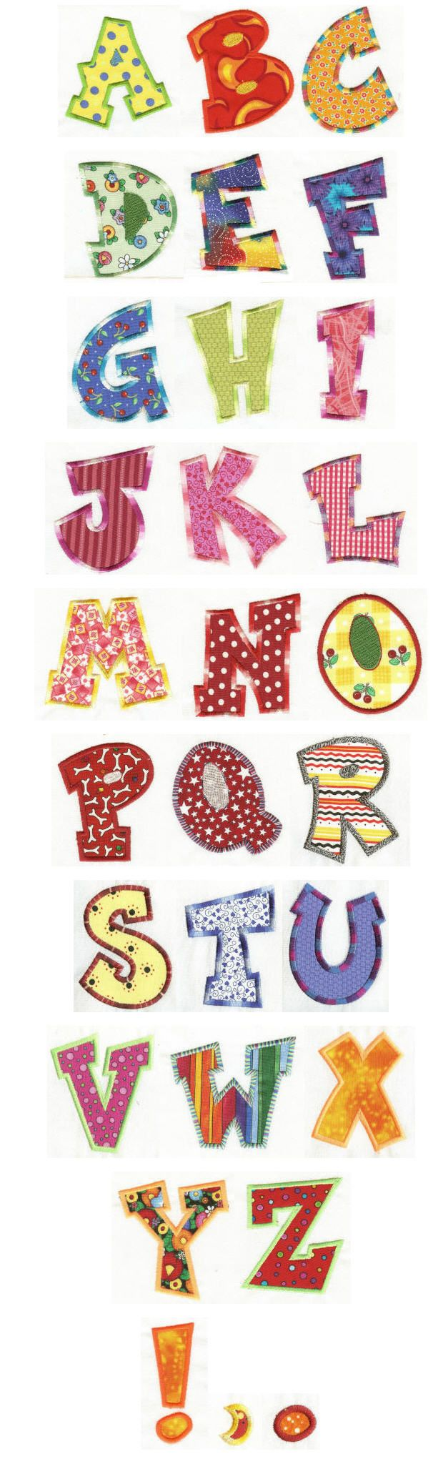 Fun Applique Alphabet