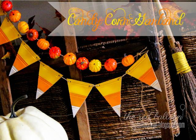DIY- Candy Corn Garland