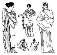 Los estilos de la ropa de la mujer en la antigua grecia, elegante y femenina, oscilaban desde los drapeados hasta las prendas ajustadas y a capas