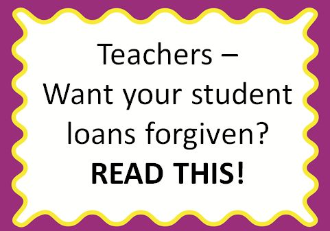Read how one teacher had over $7000 in student loans forgiven! {You could quality for $17,500 or more!!}