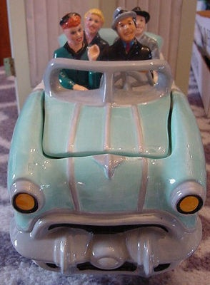 Lucy Ricky Fred & Ethel Riding in 50's Car Cookie Jar