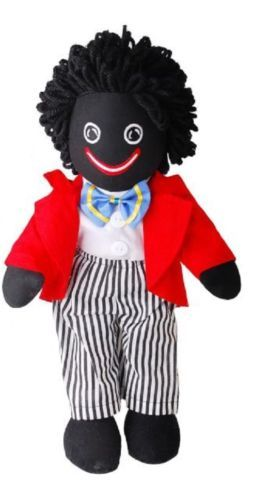 40CM TALL BOY WITH BLUE BOWTIE AND STRIPE PANTS GOLLIWOG GOLLYWOG PLUSH TOY DOLL - $37.99