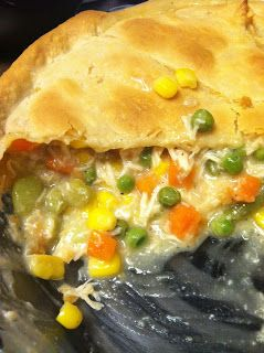 I love chicken-pot pie.  I don't like all the condensed soups that create the filling, though.  I also am not a big fan of making my own cr...
