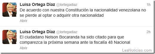 """Fiscal General manda un tweet muy sospechoso sobre """"doble nacionalidad"""" y anuncia citación a Bocaranda - http://www.leanoticias.com/2013/07/04/fiscal-general-manda-un-tweet-muy-sospechoso-sobre-doble-nacionalidad-y-anuncia-citacion-a-bocaranda/"""