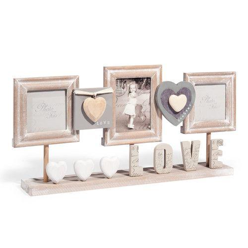 Cadre photo à poser en bois 23 x 50 cm CLÉ DES CHAMPS