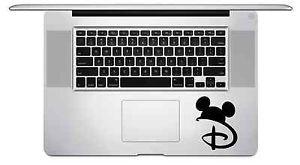 Disney Symbol Mickey Ears MacBook Laptop Trackpad Keyboard Vinyl ...