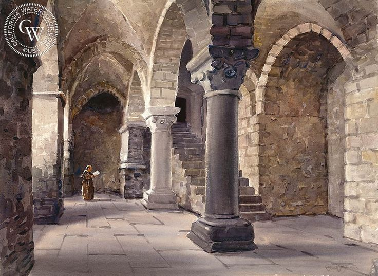 The Abbey at Mont San Michel, Normandy, France